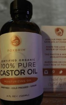 Fox Brim Castor Oil Bottle and box