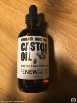 Front label of Renewalize Castor Oil