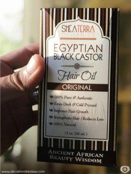 Front of Shea Terra Organics Castor Oil box