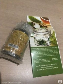 Packaging of Fountain Oil castor oil